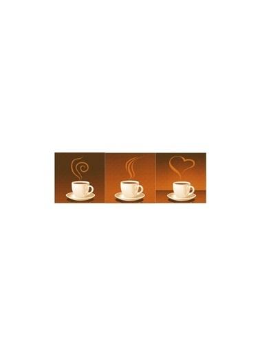 Artikel Coffee Addict 3 Parça Kanvas Tablo 40X120 Cm Renkli
